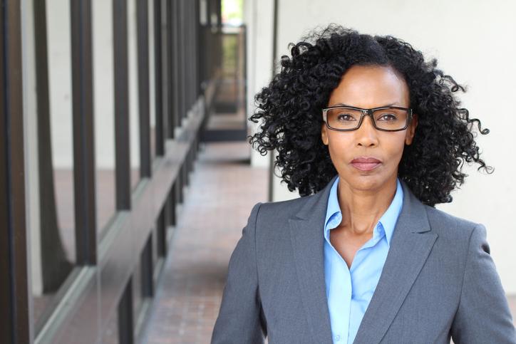 Portrait of a mature businesswoman taken outside